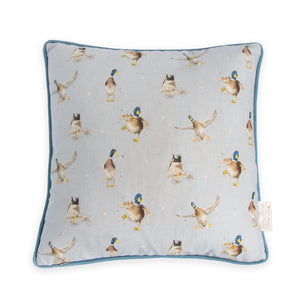 "Wrendale Designs - ""A Waddle and a Quak"" Duck Cushion"