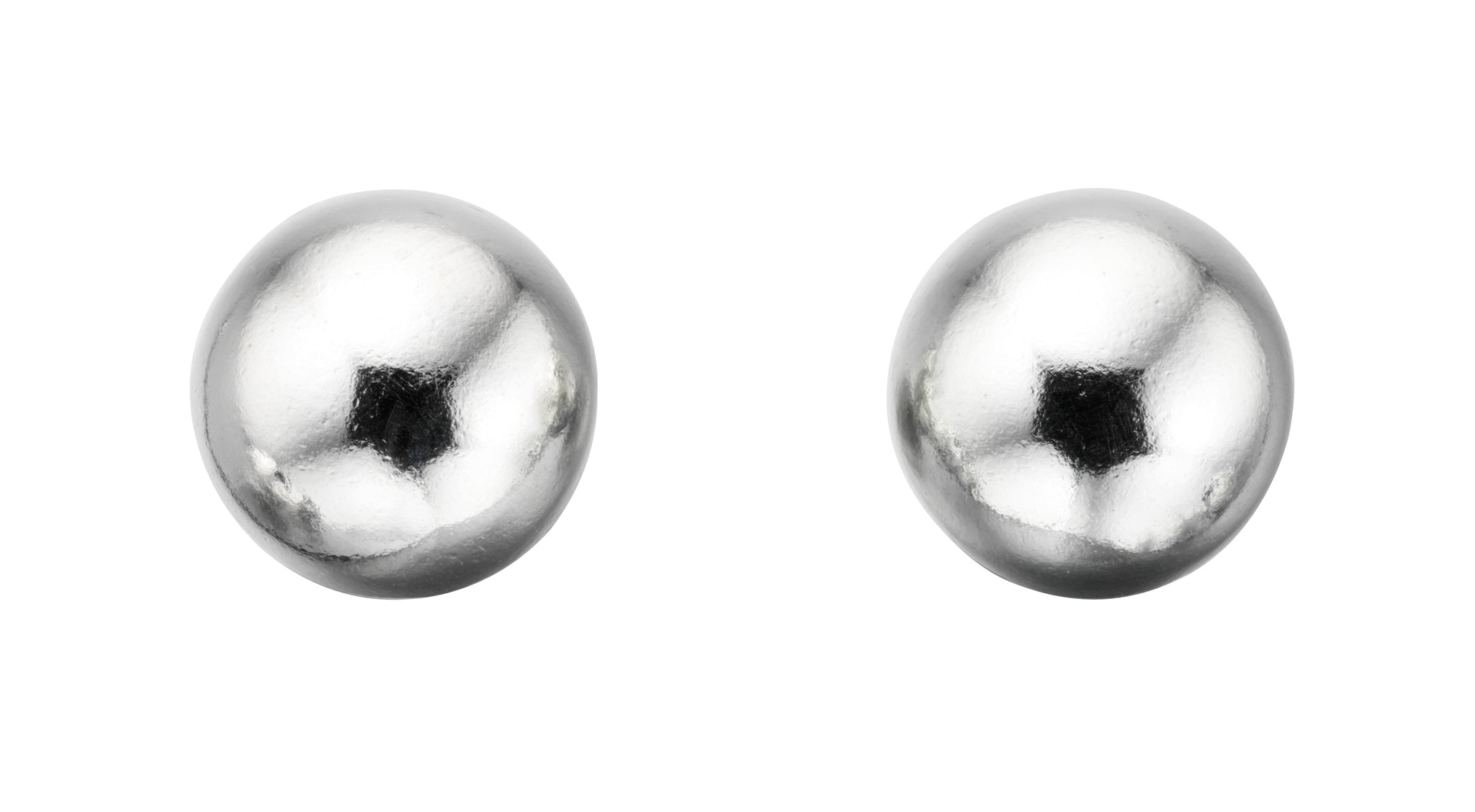 Sterling Silver 6mm Plain Ball Stud Earrings