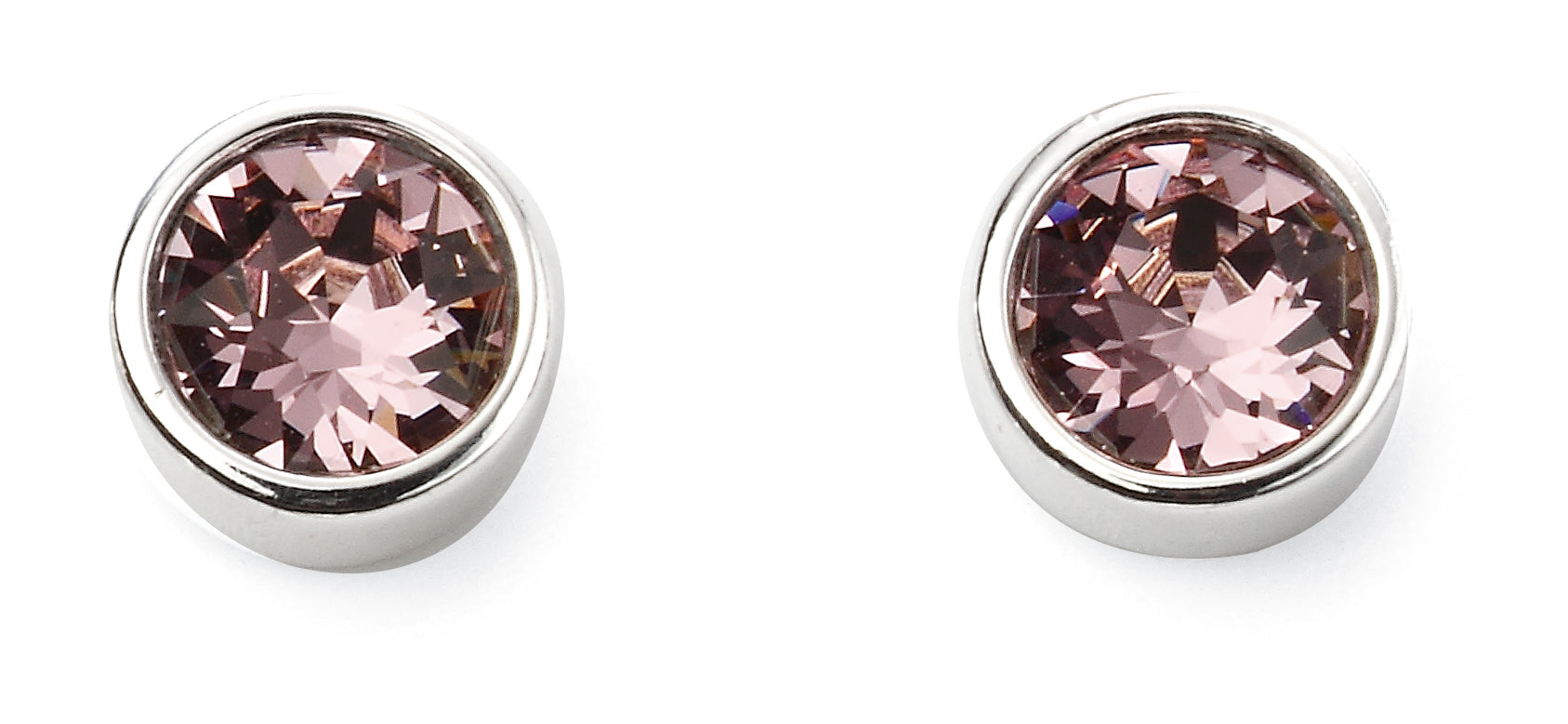 Sterling Silver Swarovski® Crystal June Birthstone Earrings