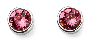 Sterling Silver Swarovski® Crystal October Birthstone Earrings
