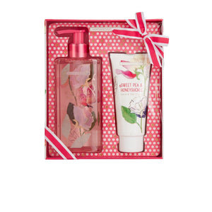 Sweet Pea & Honeysuckle - Hand Wash and Hand Cream Set (Hand Wash 250ml, Hand Cream 100ml)