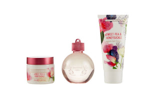 Sweet Pea & Honeysuckle - Indulgent Treats (100ml Shower Gel, 50ml Body cream, 50ml Hand Cream)