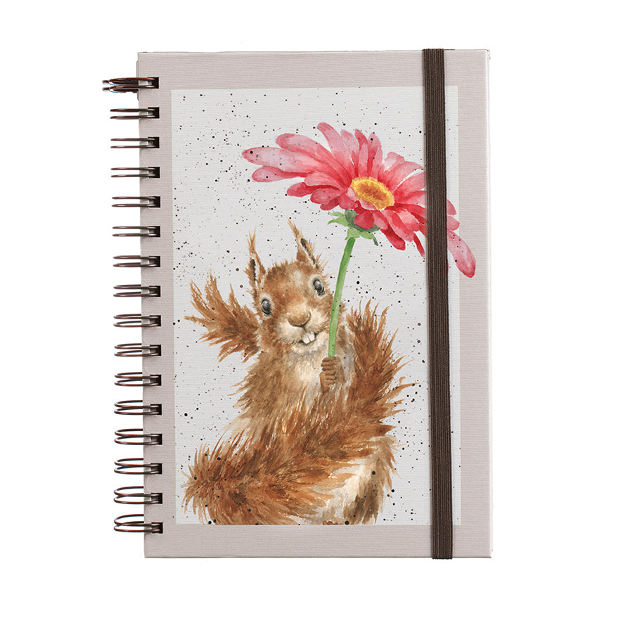 *NEW* Wrendale Designs - A5 Lined Spiral Notebook / Journal - Flowers Come After Rain
