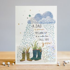 *NEW* A Dad is Someone to Look up to... Greeting Card by Louise Tiler Designs