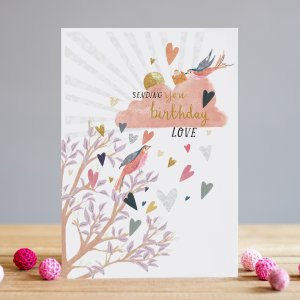 *NEW* Sending You Birthday Love Greeting Card by Louise Tiler Designs