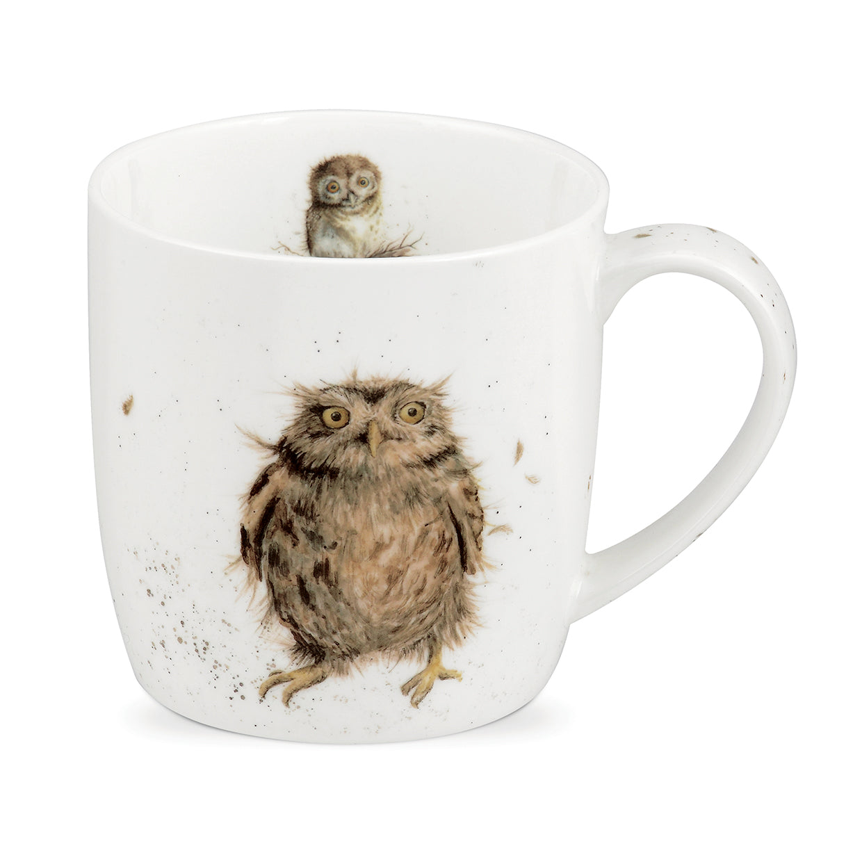 Wrendale Designs Bone Fine China Mug - 'What a Hoot'