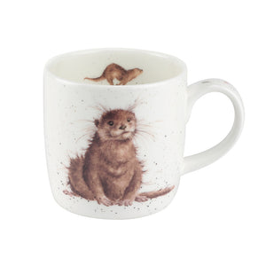 Wrendale Designs Bone Fine China Mug - 'Rivergent'