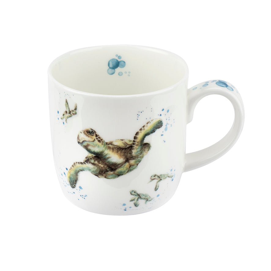 Wrendale Designs Bone Fine China Mug - 'Turtly Awesome'
