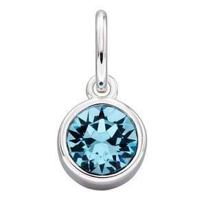 Sterling Silver Swarovski® Crystal March Birthstone Pendant