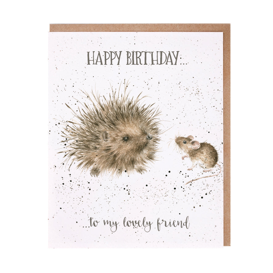 "*NEW* from Wrendale Designs - ""Lovely Friend"" Greeting Card"