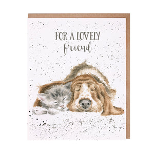 "Wrendale Designs - ""For a Lovely Friend"" Greeting Card"