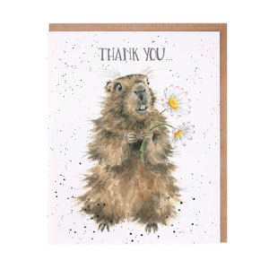 "Wrendale Designs -  ""Thank You"" Greeting Card"