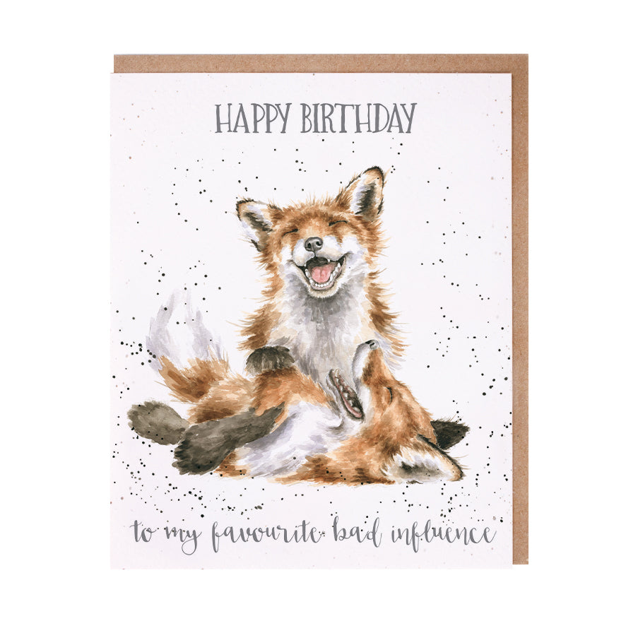 "*NEW* from Wrendale Designs - ""Favourite Bad Influence"" Birthday Greeting Card"