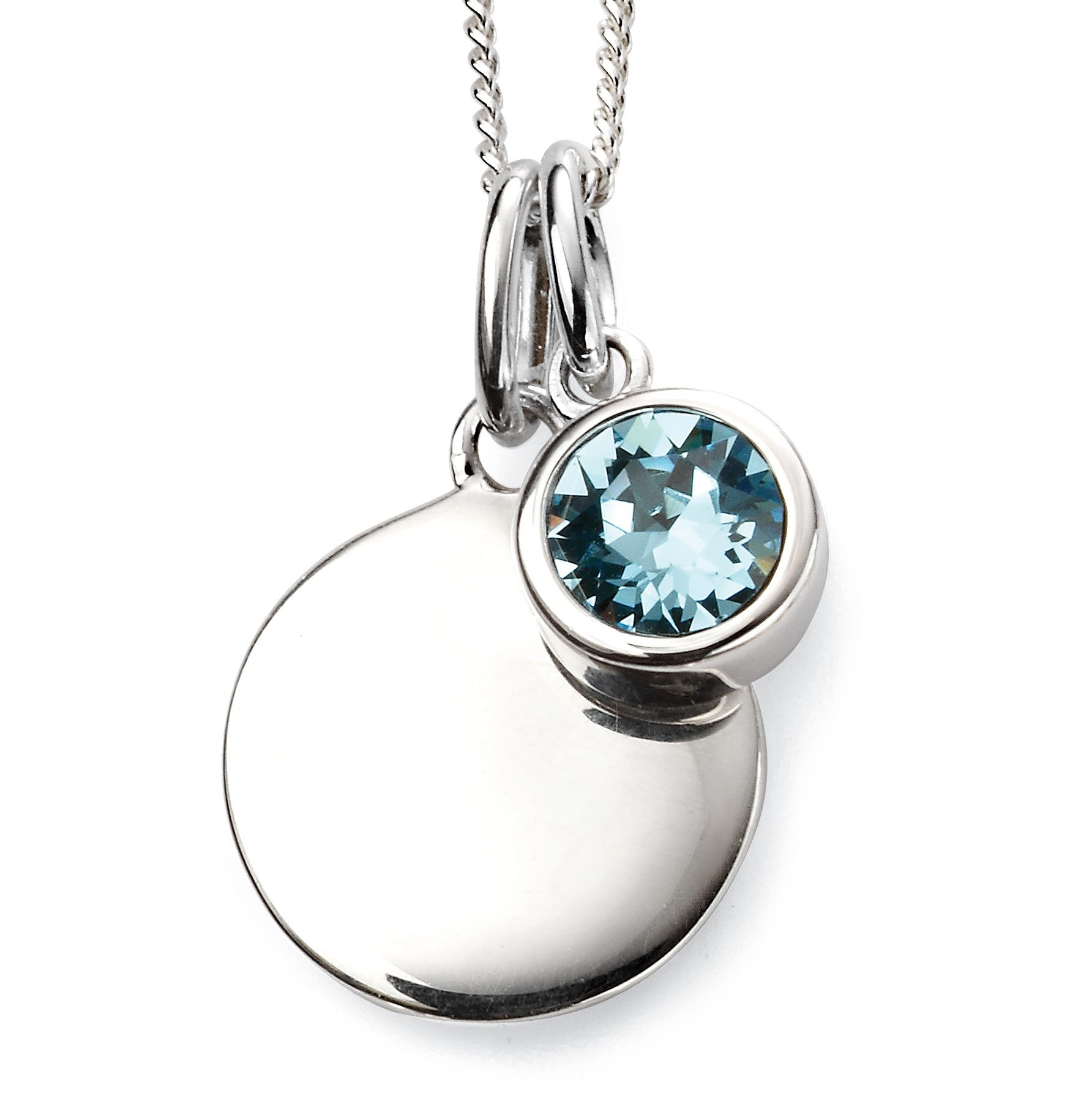 Sterling Silver Swarovski® Crystal March Birthstone Necklace