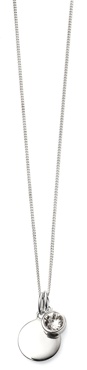Sterling Silver Swarovski® Crystal April Birthstone Necklace