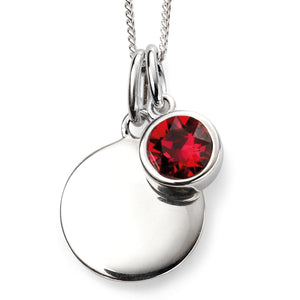 Sterling Silver Swarovski® Crystal July Birthstone Necklace
