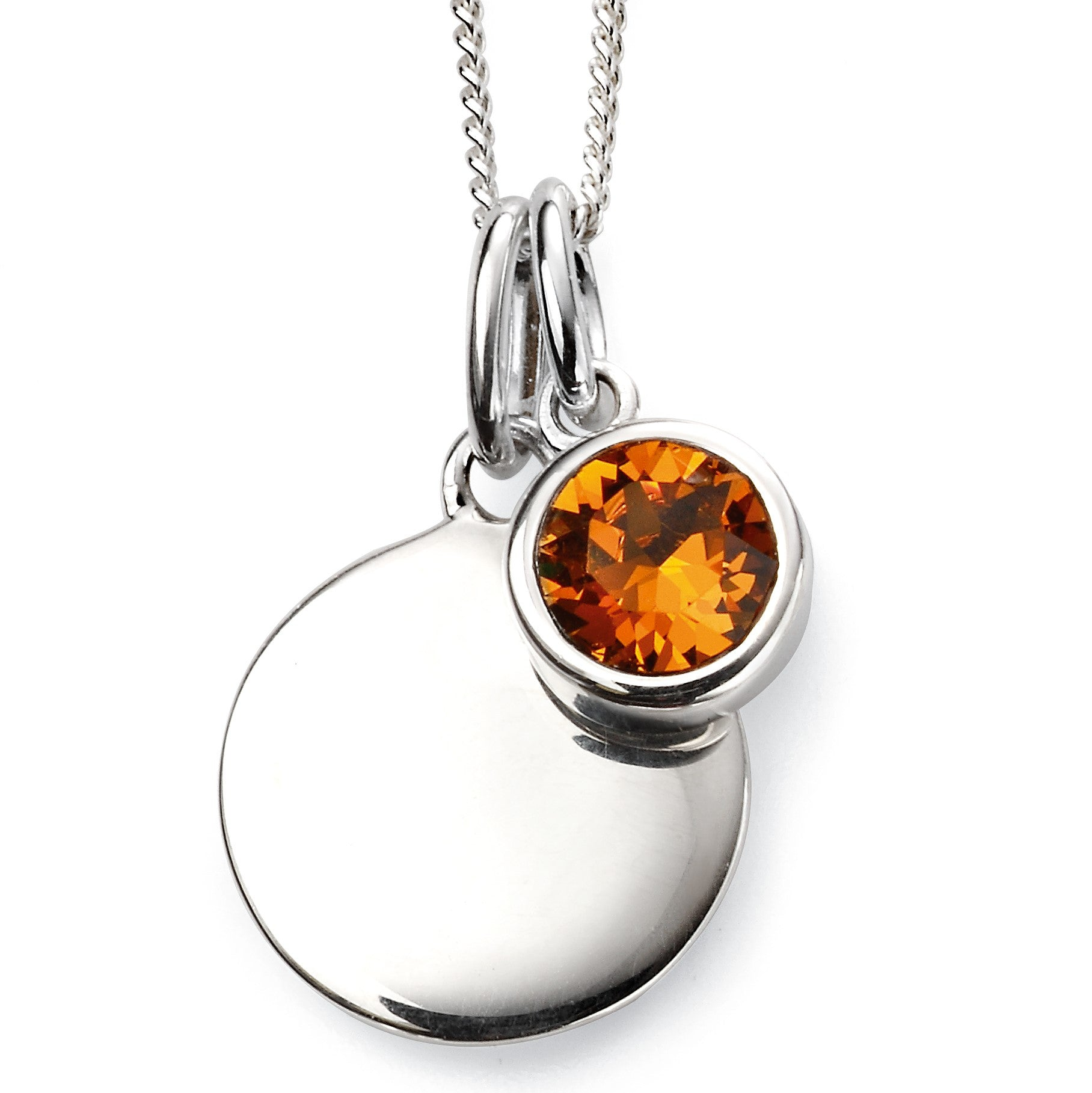Sterling Silver Swarovski® Crystal November Birthstone Necklace