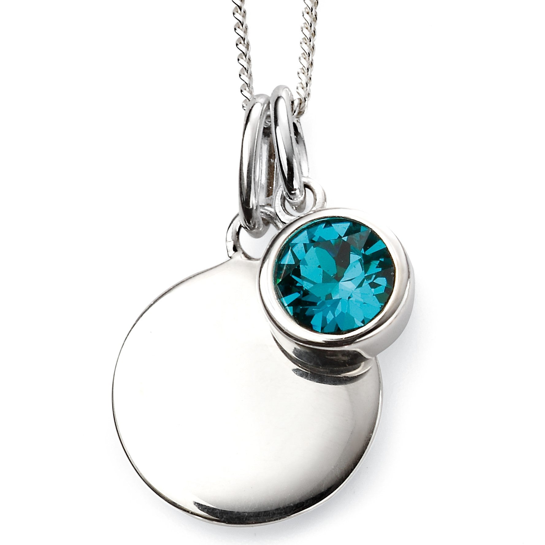 Sterling Silver Swarovski® Crystal December Birthstone Necklace
