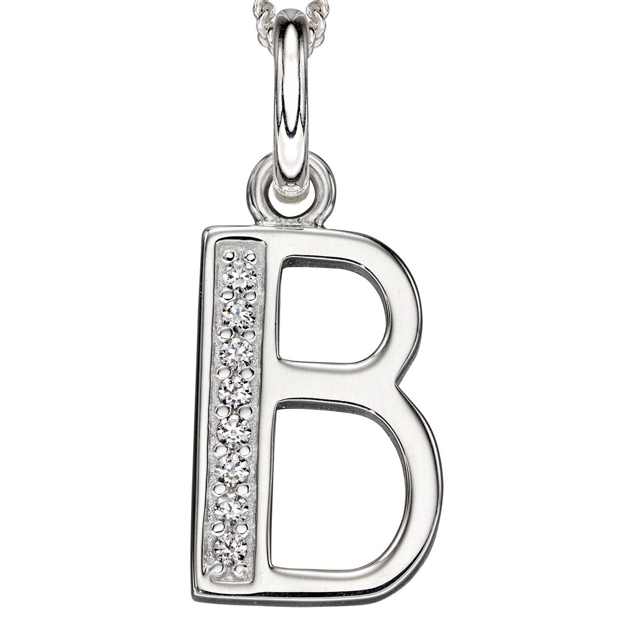 Sterling Silver Art Deco Initial 'B' Pendant
