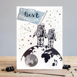 *NEW* To the Best Grandson Greeting Card by Louise Tiler Designs