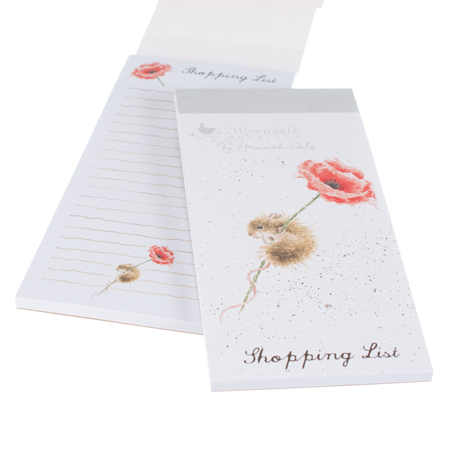 *NEW* from Wrendale Designs - Magnetic Shopping Pad - Mouse and Poppy