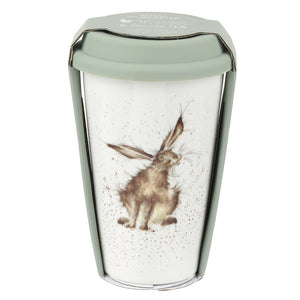 Wrendale Designs Porcelain Travel Mug - 'Hare'