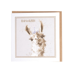 "Wrendale Designs -  ""Llama Queen"" Greeting Card"