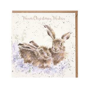 "Wrendale Designs -  ""Warm Christmas Wishes"" - Christmas Card"