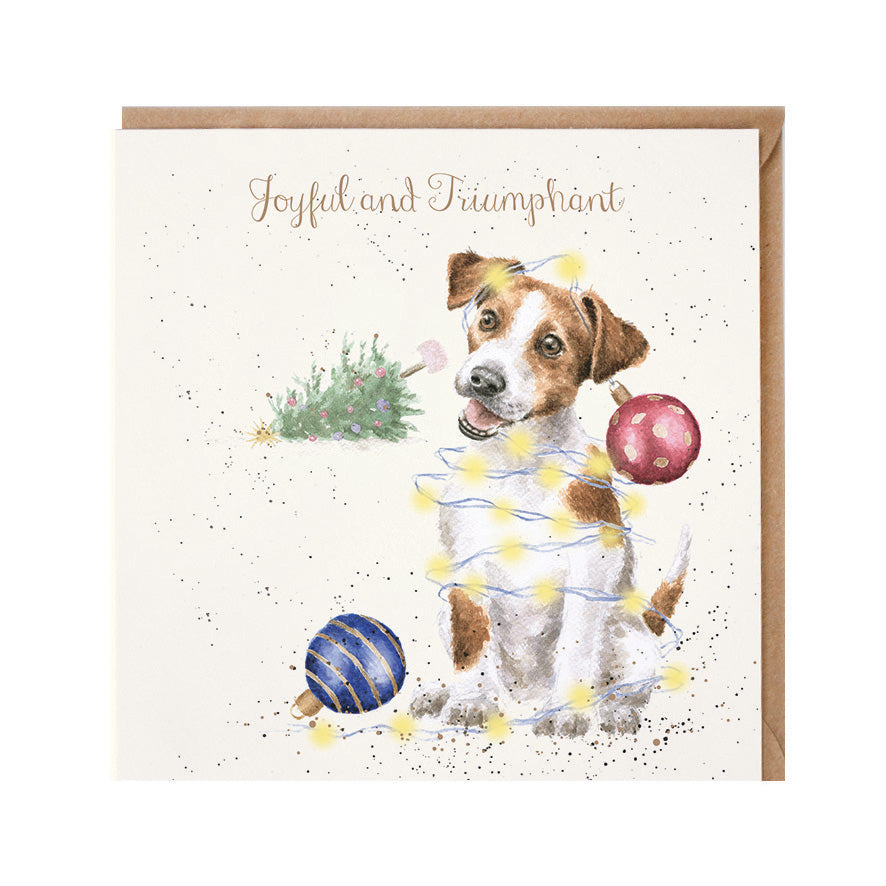 "Wrendale Designs -  ""Joyful and Triumphant"" - Christmas Card"