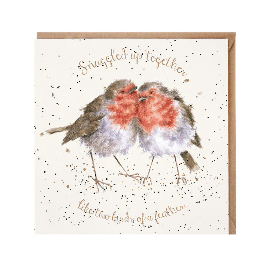 "Wrendale Designs -  ""Birds of a Feather"" - Christmas Card"