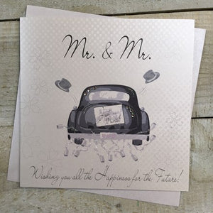 White Cotton Cards - Mr. and Mr.