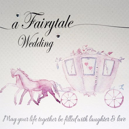 White Cotton Cards - A Fairytale Wedding