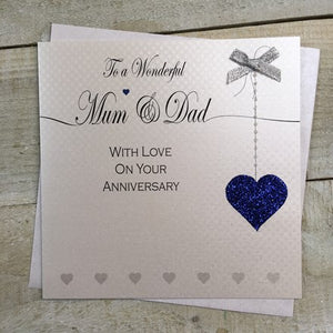 White Cotton Cards - To a Wonderful Mum & Dad