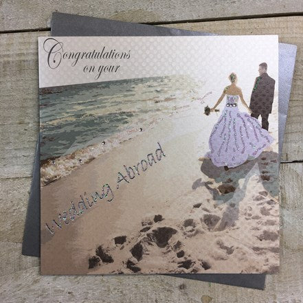 White Cotton Cards - Wedding Abroad