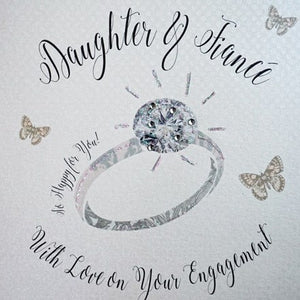 White Cotton Cards - Daughter & Fiance