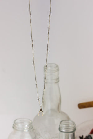 Make a Wish Necklace. Sterling silver Wishbone Necklace. by Lahcinta Jewellery