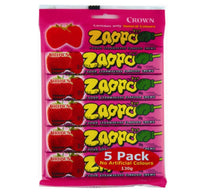 Crown Zappo Strawberry Chew 5pk