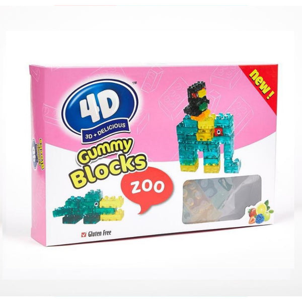 Amos 4D Gummy Blocks Zoo Box