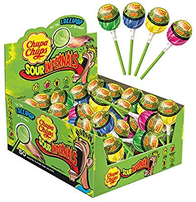 Chupa Chup Sour Infernals Lollipop