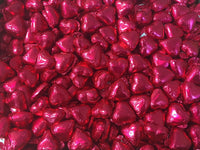 Pauls Chocolates Bright Pink Milk Chocolate Hearts