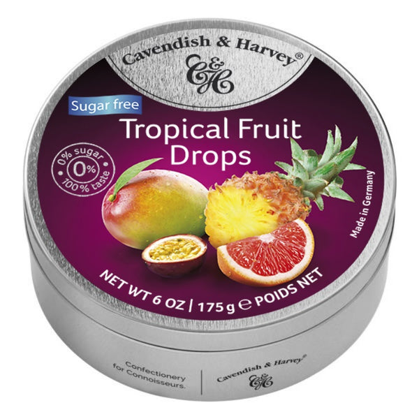 Cavendish & Harvey Tropical Fruit Drops Tin S/F
