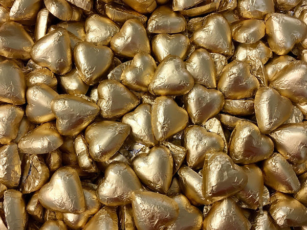 Pauls Chocolates Gold Milk Chocolate Hearts