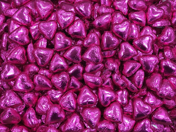 Pauls Chocolates Hot Pink Milk Chocolate Hearts