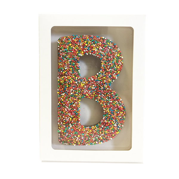"Chocolate Gallery Freckle Letter ""B"""