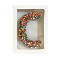 "Chocolate Gallery Freckle Letter ""C"""