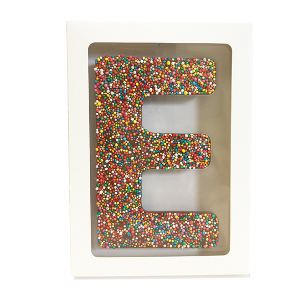"Chocolate Gallery Freckle Letter ""E"""
