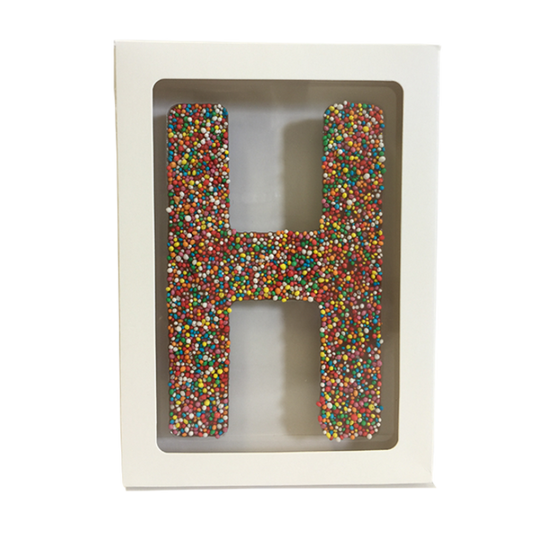 "Chocolate Gallery Freckle Letter ""H"""
