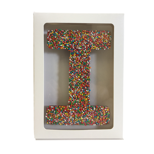 "Chocolate Gallery Freckle Letter ""I"""