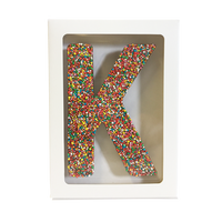 "Chocolate Gallery Freckle Letter ""K"""