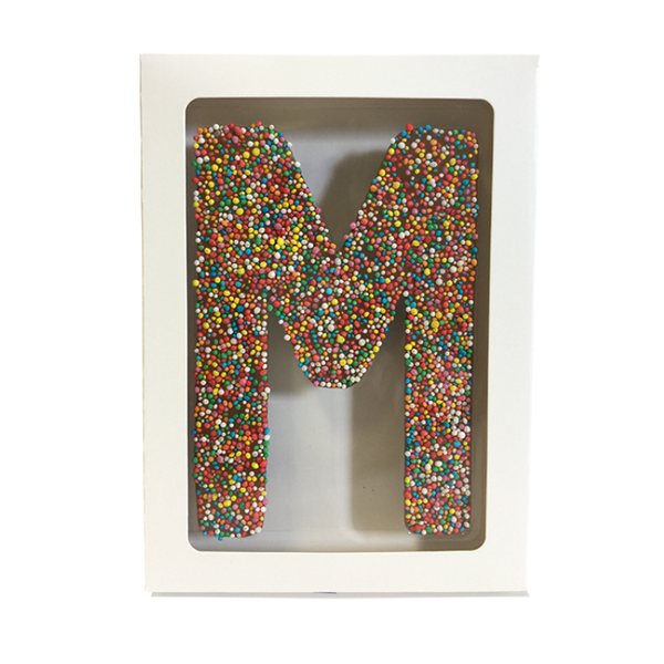 "Chocolate Gallery Freckle Letter ""M"""